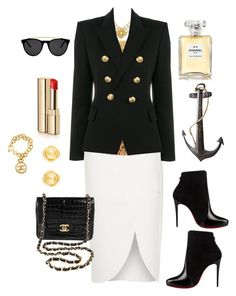 """""""Nicely Nautical"""" by laineys on Polyvore featuring River Island, Christian Louboutin, Chanel, Balmain, Dolce&Gabbana, Smoke & Mirrors and Dot & Bo"""