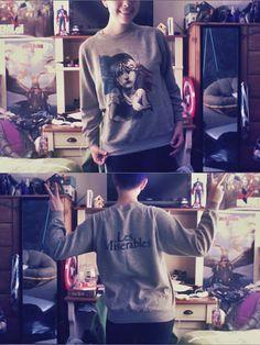 les misérables vintage heather grey sweatshirt — merchandise from the original 1987 les mis broadway run!