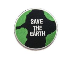Planet Earth World Peace Hack The Planet DIY Backpack Jacket Shirt Iron on patch