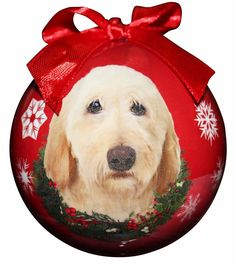'Labradoodle, Yellow Christmas Ornament' Shatter Proof Ball Easy To Personalize A Perfect Gift For Yellow Labradoodle Lovers -- Click image for more details.