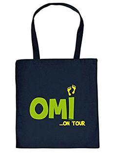 Mega Coole Baumwolltasche / Einkaufstasche - Geschenk für die Oma - Omi on Tour - für die liebste Oma /Goodman Design