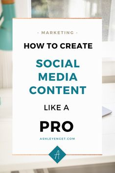 Create Content Like a Social Media Pro // Ashley Enget -- learn how to make money from social media Business Marketing, Business Tips, Online Marketing, Social Media Marketing, Online Business, Digital Marketing, Facebook Marketing, Marketing Strategies, Content Marketing