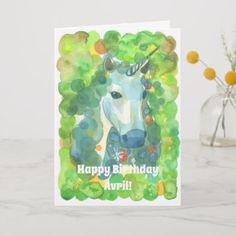 Shop Enchanted Forest Unicorn Magical Birthday Announcement Postcard created by fairychamber. Unicorn Birthday Cards, Unicorn Birthday Invitations, Kids Birthday Cards, Summer Birthday, Happy Birthday Me, Magical Unicorn, Holiday Postcards, Kids Cards, Lovers Art