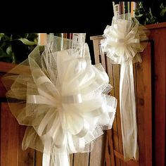 church pew decorations for weddings - Yahoo Image Search Results