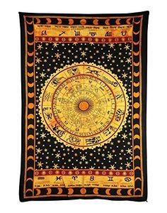 Handicrunch Black Zodiac Horoscope Tapestry, Indian Astro... https://www.amazon.com/dp/B00N63B41W/ref=cm_sw_r_pi_dp_x_oZ8bzbK0KRE40