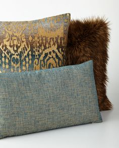 -69EQ   Lawrence Square Pillow Lawrence Oblong Pillow Lawrence Faux-Fur Pillow