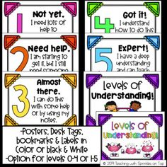 Levels of Understanding Posters, Bookmarks & Desk Tags Set Sports Theme Classroom, Classroom Decor, 2nd Grade Math, First Grade, Desk Tags, Levels Of Understanding, Good Student, Future Career, Teacher Favorite Things