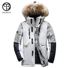 622396f4ef7 new 2017 Winter Women s Plus size M-6XL Large Fox Fur Collar Thickening  White Goose Down Coats Women s Down Jackets Parka LY666