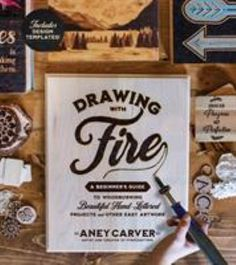 """The 25 projects in this book present a modern, easy-to-follow approach to the ancient art of wood burning, also known as pyrography. By pressing a heated wood burning tool to wood, you can """"write with fire"""" to engrave words, a picture or other design and create your own custom art, and with this book  Aney Carver of Pyrocrafters shares her expert tips and tutorials to ensure beginners can get an amazing result from their very first try. Beautiful Drawings, Beautiful Hands, Lettering Design, Hand Lettering, Wood Burning Kits, Book Drawing, Mandala Design, Pyrography, Custom Art"""