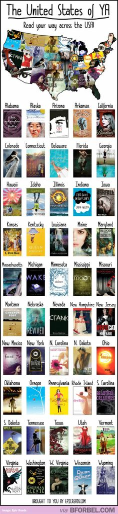 Young Adult Fiction From Every State In The United States… Illinois Michigan Minnesota Ohio maybe Massachusetts