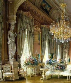 Essential steps to elegant luxury european style curtains 14 – fugar Classic Interior, Luxury Interior, Interior And Exterior, Country Interior, Contemporary Interior, Beautiful Interiors, Beautiful Homes, Winter Palace, Victorian Interiors
