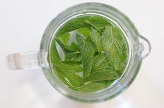 homemade mint water