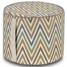 Missoni Home Nesterov sittpuff Missoni, Soft Furnishings, Leather Handle, Decoration, Home Interior Design, Stool, Decorative Boxes, Design Inspiration, Chairs