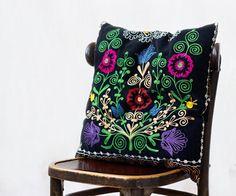 Uzbek suzani pillow 18x18 SINGLE decorative by MulberryWhisper