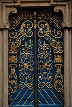 Ornate doorway at the the Enchanted Garden. The idea of magical doors and gates to secret gardens. Cool Doors, The Doors, Unique Doors, Windows And Doors, Front Doors, Grand Entrance, Entrance Doors, Doorway, Gates