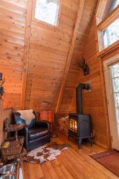 A-frame Cabin For Sale in Skykomish, WA 0017 A Frame Cabin, A Frame House, Attic Renovation, Attic Remodel, Cabins For Sale, Small Attics, Attic Design, Rustic Chandelier, Attic Rooms