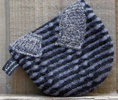 back of another felted sweater bag