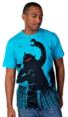 Attack of the Robot! T-Shirt, Design by Humans. #robots #tees #tshirts #robottee #robottshirt #empirestateofmind