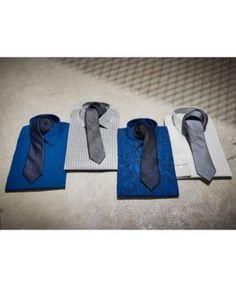 Calvin Klein Men's Classic Fit Non-Iron Performance Gray and White Check Dress Shirt - Gray 17 34/35