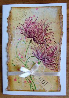 "By Bianca van Noort. Uses the stamp ""Dreamy"" by Penny Black."