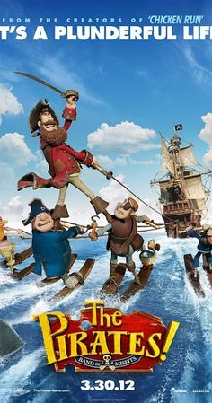 Directed by Peter Lord, Jeff Newitt.  With Hugh Grant, Salma Hayek, Jeremy Piven, Martin Freeman. Pirate Captain sets out on a mission to defeat his rivals Black Bellamy and Cutlass Liz for the Pirate of the year Award. The quest takes Captain and his crew from the shores of Blood Island to the foggy streets of Victorian London.