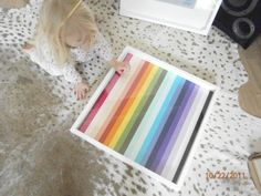Rainbow ribbon wall art frame for lillys bedroom see the full post at our blog