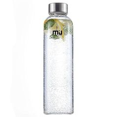 MIU COLOR Borosilicate Glass Water Bottle  185oz without Tea infuser Black Sleeve ** Be sure to check out this awesome product.