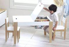 Kids desk with storage