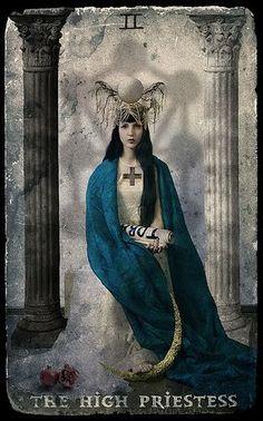 Starlight Tarot - The High Priestess - If you love Tarot, visit me at www.WhiteRabbitTarot.com