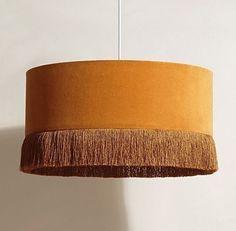 Ero Yellow Velvet Pendant Large Lampshade, £59.50 from Oliver Bonas affiliate partners Affiliate Partner, Oliver Bonas, Light Fittings, Nice Things, Dublin, Design Ideas, Lounge, Velvet, Shades
