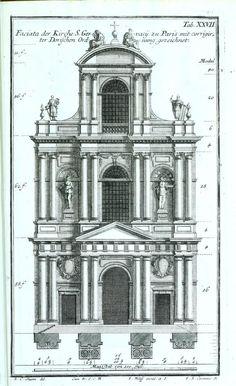 Architectural Drawings Of Famous Buildings pedro de ribera_archivo biblioteca nacional de españa | 01 drw