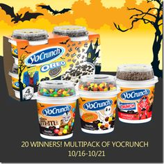 And They Call Me Mommy: YoCrunch Yogurt Giveaway! Days Only! Oreo 4, Little Debbie Snack Cakes, Halloween Themed Food, Halloween Candy, Comida Disney, Disney Coffee Mugs, Healthy Eating Guidelines, Junk Food Snacks, Rainbow Food