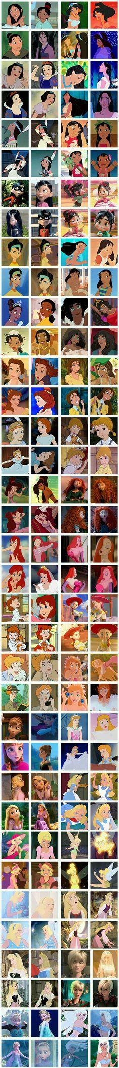 Personagens femininas da Disney