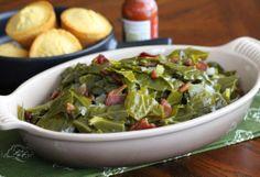Southern Comfort Food - Cajun Collard Greens with Bacon