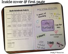 Simply 2nd Resources: Math Notebook - Set up