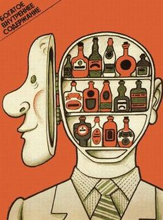 Via Poemas del río Wang blog - some of the Soviet era's classic anti-drinking posters.