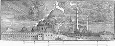 Lorck Süleymaniye-mosque.        Süleymaniye Külliyesi, 1570