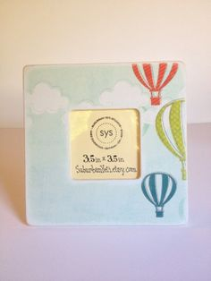 Hot Air Balloons   Picture Frame by SuburbanYeti on Etsy, $17.00