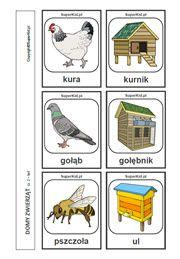 Domy zwierząt - arkusz nr 2 Special Needs, Montessori, Education, Comics, School, Crockpot, Alphabet, Therapy, Alpha Bet