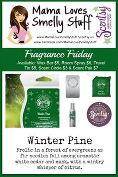 Fragrance Friday {Scentsy Pick of the Week} - Winter Pine #FragranceFriday #Scentsy #WinterPine