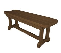 POLYWOOD PBB48TE Park 48 Backless Bench Teak * Check out the image by visiting the link.