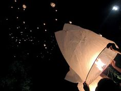 Thousands Lanterns during vesak day at Borobudur 2012. blog posted in Bahasa Indonesia.