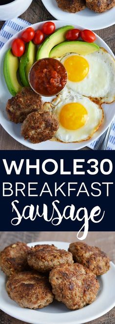 This simple Whole30 Breakfast Sausage is quick and easy. It can be made in large batches and is freezer friendly. It will quickly become a breakfast staple.