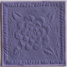 Easiest Flower Ever machine quilting tutorial - Site has lots of other great tutorials, too.