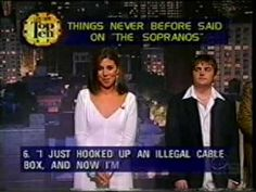 """Letterman's Top 10  - """"Top 10 Things Never Before said on the 'Sopranos'"""", presented by cast members."""