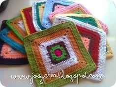 *.:。✿JosyCrea✿.。.:* Tejido a Crochet y Más!: Cuadraditos a crochet paso a paso
