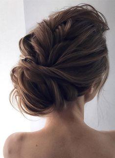 updo coiffures de mariage pour cheveux longs