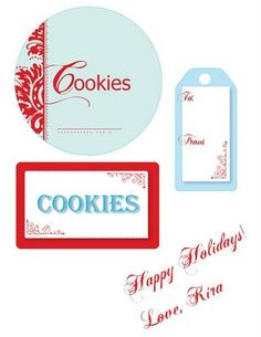 Printable personalized from santa gift tags crafty christmas cookie printable tags negle Choice Image