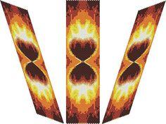 SABLIER D'AMOUR Bracelet  PDF pattern by EsotericBeads on Etsy, €4.00