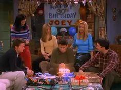 Friends Funny Moments, Joey Friends, Friends Scenes, Friends Cast, Friends Gif, Friends Show, Happy Birthday Friend, Happy Birthday Video, 30th Birthday
